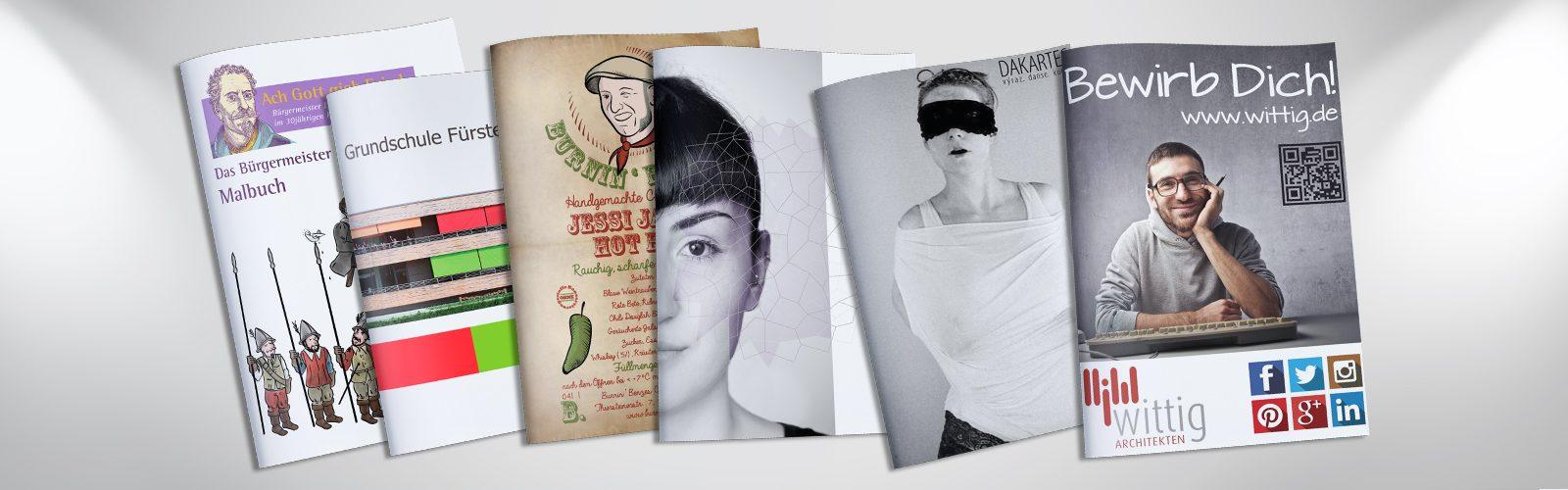 Graphikdesign Layout Druckvorstufe Broschüren Plakate Flyer Visitenkarten Logo
