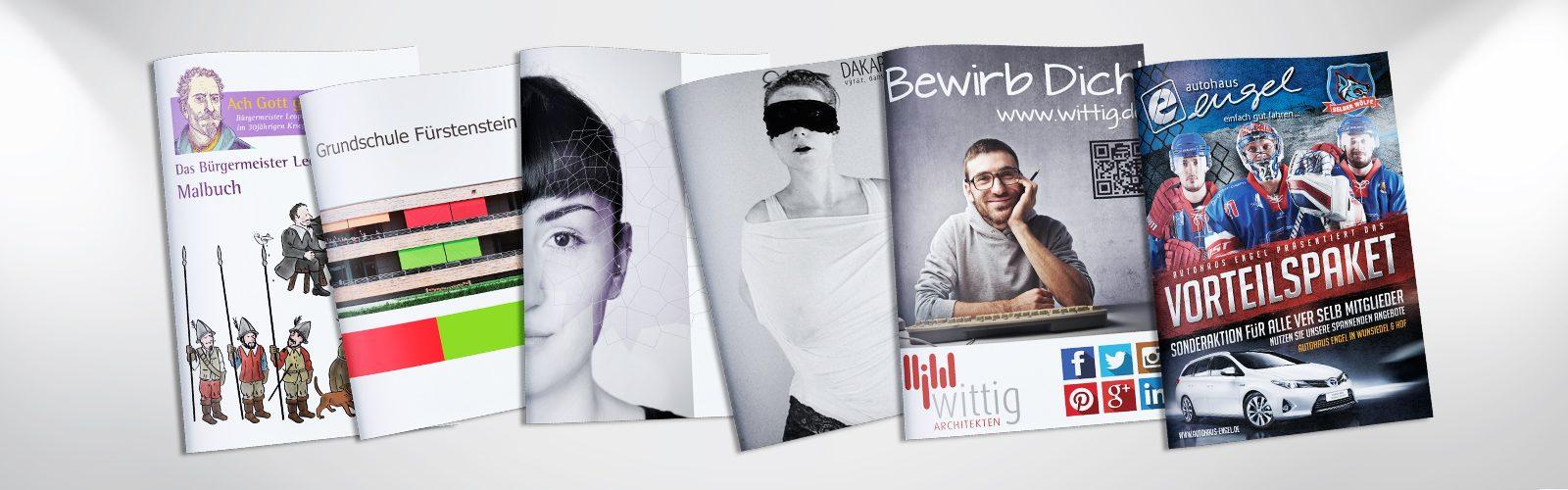 Graphikdesign Druck Flyer Broschüren Werbetechnik